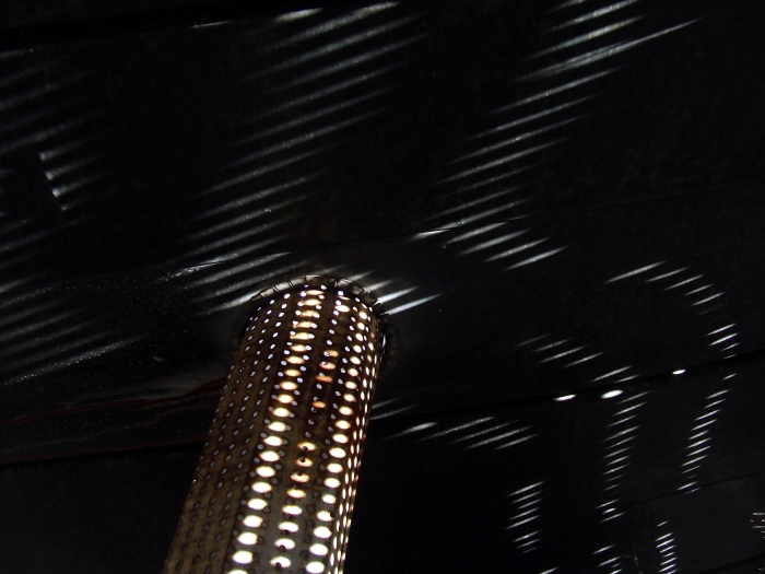 inside the old corncrib